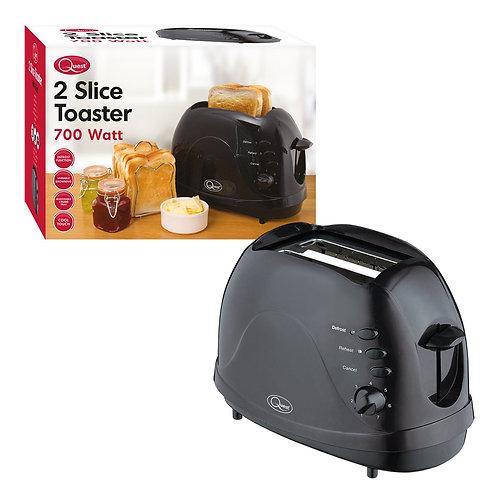 Quest 2 Slice Toaster 700 Watt Black