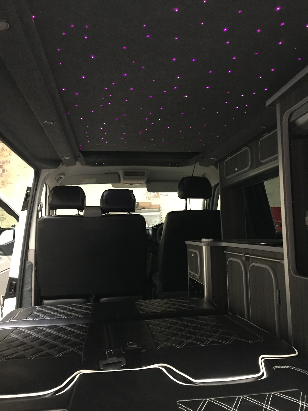 VW campervan starry night ceiling