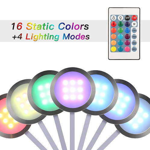 Docooler LED spotlights under cabinet, colour changing with remote control