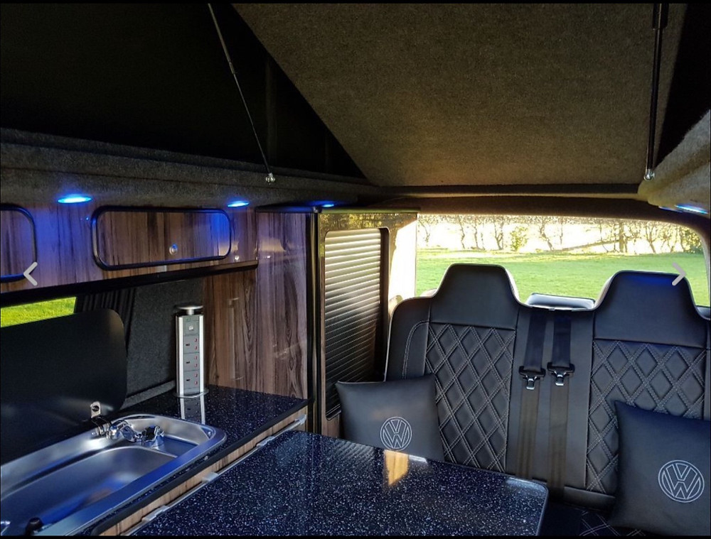 vw transporter T5 campervan interior