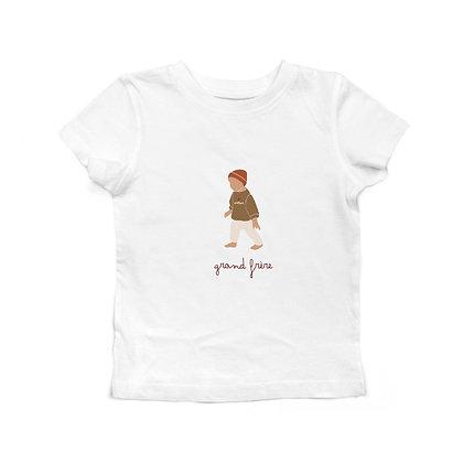 T-shirt blanc illustré garçon