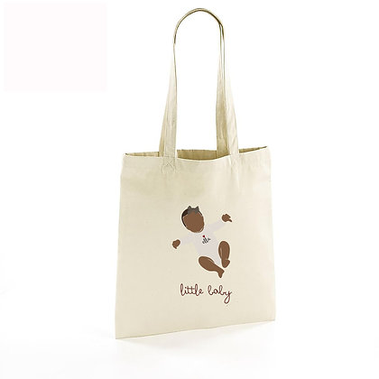 Totebag illustré bébé allongé