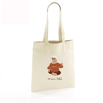 Totebag illustré bébé assis