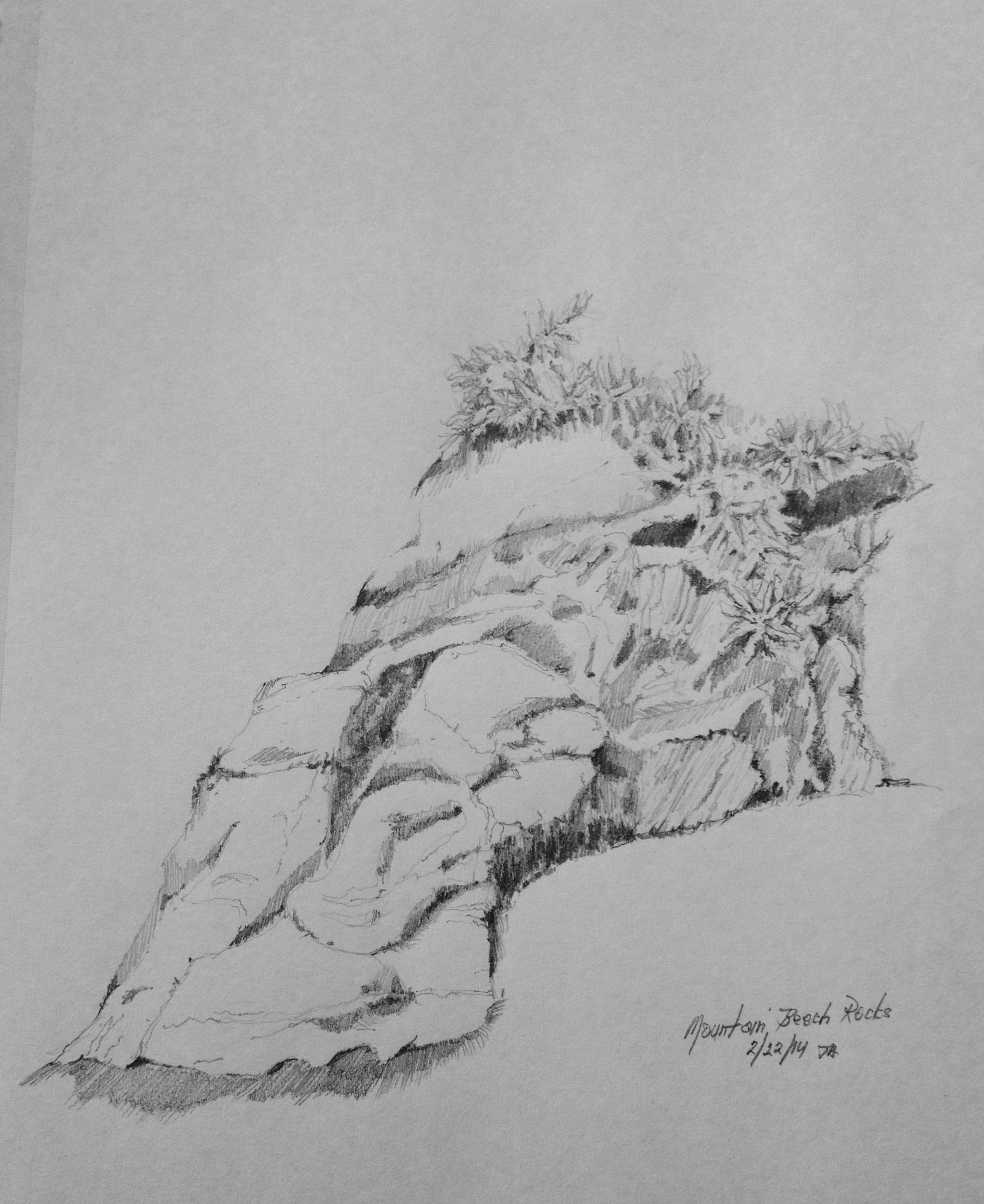 Mountain Beach Rocks