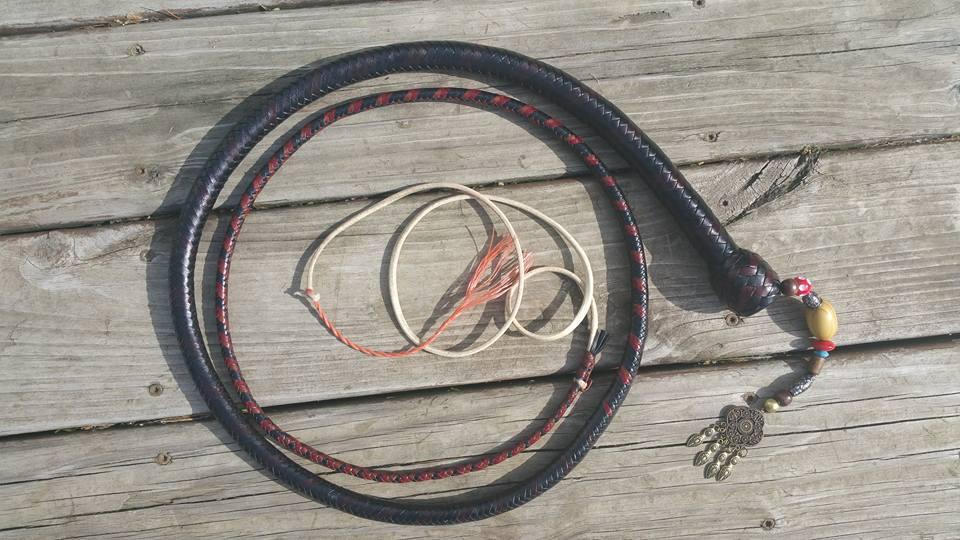 6' 12 Plait Black Pearl SnakeWhip
