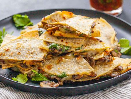 Simple Mushroom Quesadillas