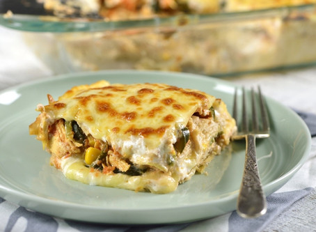 Pastel Azteca (Mexican Lasagna) - with Chicken