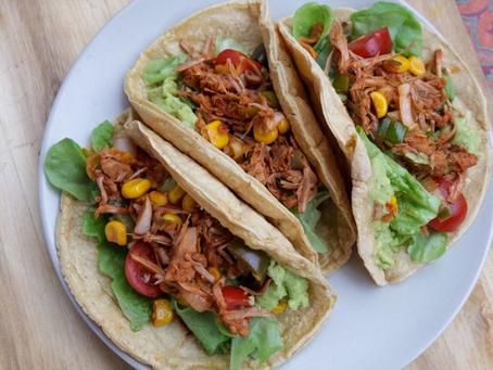 Vegan Tacos with Jackfruit (gluten-free)