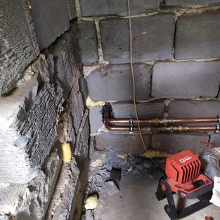 Montáž tepelného čerpadla - přívod vody topení