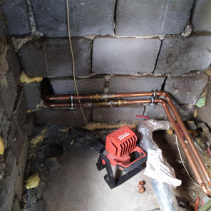 Instalace otopné vody k tepelnému čerpad