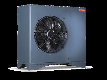 Tepelné čerpadlo typu split, monoblok a vnitřní instalace.