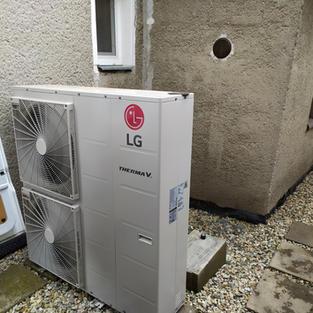 Montáž tepelného čerpadla LG (Olomoucko)