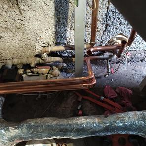 Navázání trubek od tepelného čerpadla na