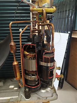 Řez kompresorem tepelného čerpadla