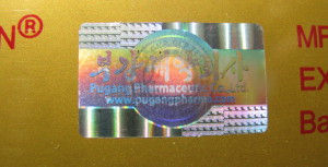 наклейка голограмма