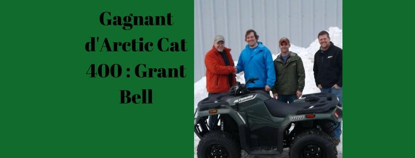Arctic Cat 400 Winner_ Grant Bell