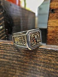 Molon Labe Ring | Customer Two Tone Ring