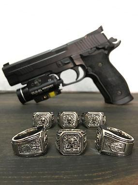 2A Molon Labe Jewelry Silver with Glock