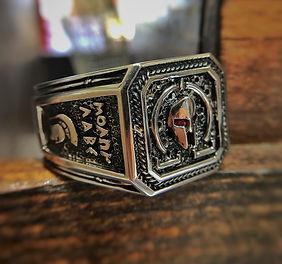 Molon Labe Jewelry Ring Rubies
