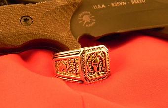 Gold Molon Labe Ring