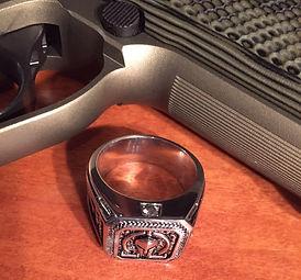 Molon Labe Diamond Ring
