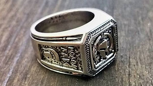 The Molon Labe Ring | Spartan Helmut Site