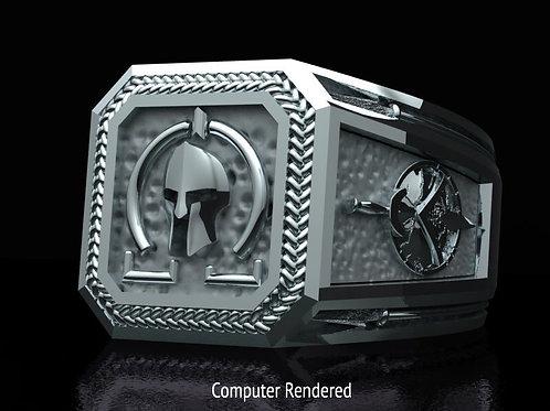 Molon Labe Ring - Silver