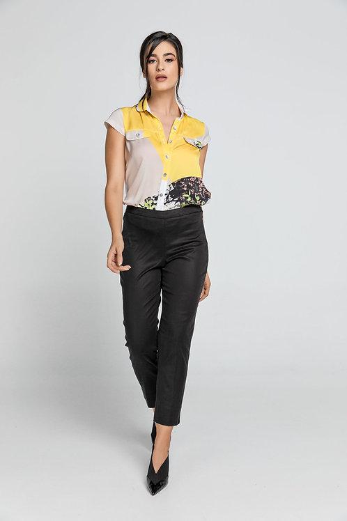 Slim Fit Black Pants Conquista Fashion