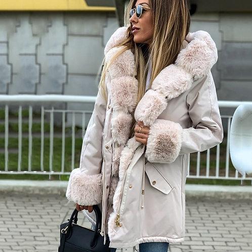 Umeko 2020 Women's Winter Parka Coats Long Cotton Casual
