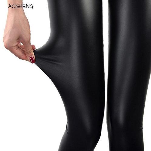 S-3xl Plus Size Women Faux Leather Leggings Summer