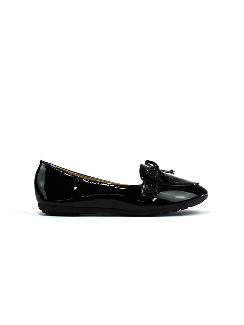 Bow Slip On Black Patent