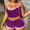 Thumbnail: Hot Women 2 Piece Set Velvet Sleepwear Sexy Spaghetti Strap