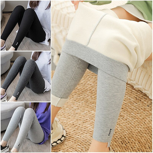 New Autumn and Winter Cotton Ninth Pants High Waist Leggings Thread