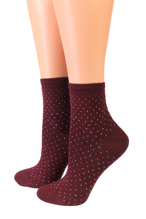 Oroblu POWDER bordeaux red socks