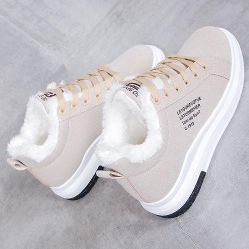 Cotton Shoes Female New Women's Boots Winter Plus Velvet