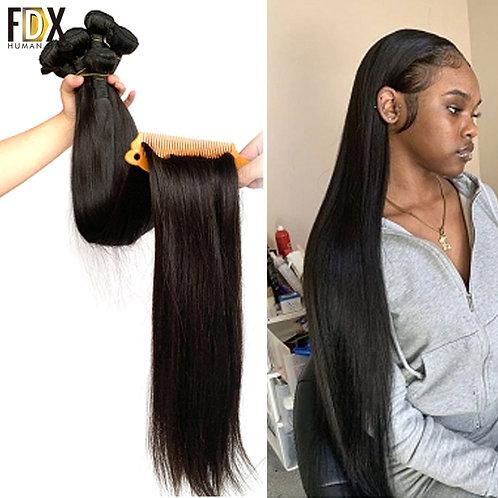 FDX 30 32 34 36 38 40 Inch Silky Straight Brazilian Hair Weave