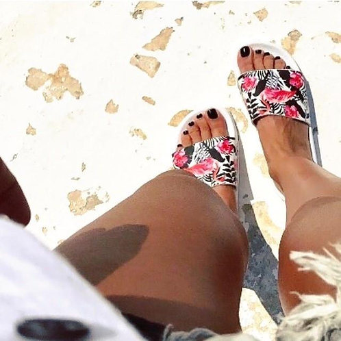 Flamingo Aruba White Slides Shoes