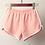 Thumbnail: Summer Short Pants Contrast Binding Side Split Elastic Waist Patchwork