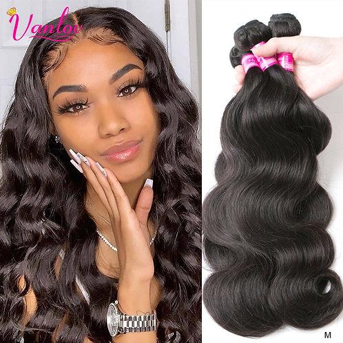 Vanlov Brazilian Body Wave Hair Bundles Natural Black&Jet