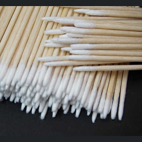 100/300pcs Wood Cotton Swab Cosmetics Permanent