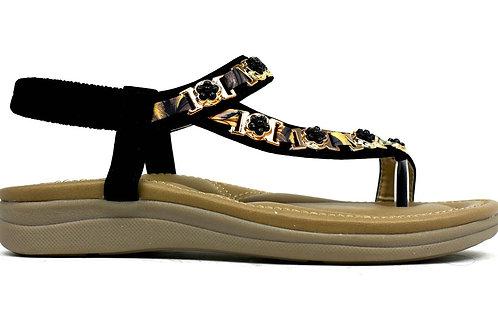 Link Comfort Sandal Black