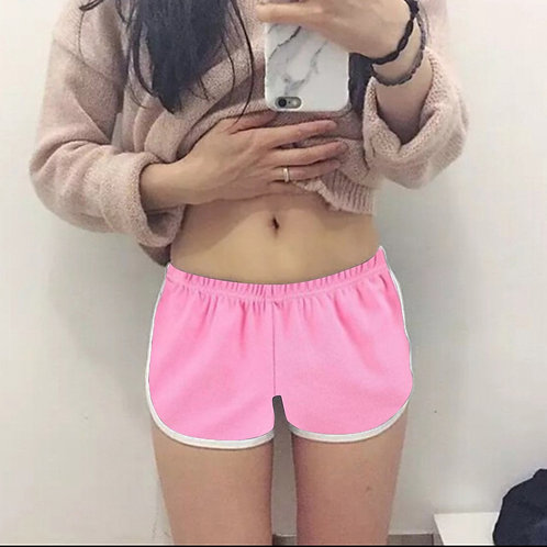 Candy Color Women Sports Running Shorts Home Style Chic