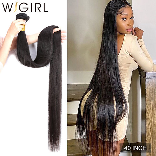 Wigirl Straight 28 30 32 40 Inch Virgin Remy Brazilian Hair