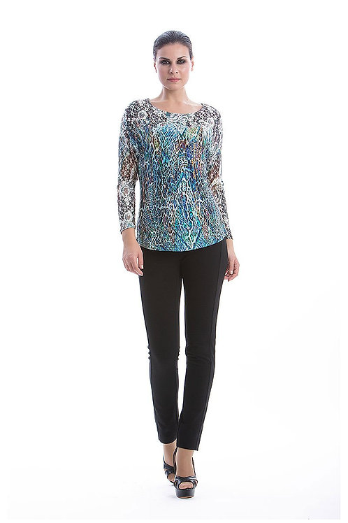 Patterned Long Sleeve Top