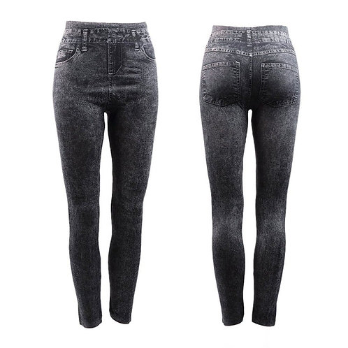 New Casual Skinny Jeans Pants Women High Waist Slim Black