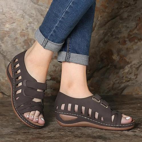 2020 Summer Women Sandals Leather Hook Handmade Ladies