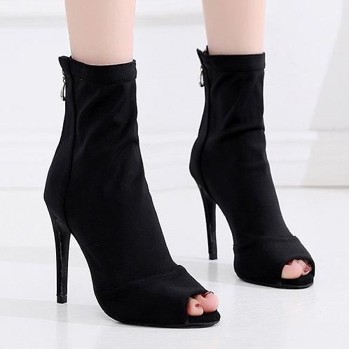 SWDZM Woman Latin Dance Shoes Boots Ballroom Waltz Samba