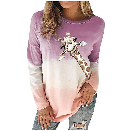 Women Sweatshirt 2020 Streetwear 3d Animal Giraffe