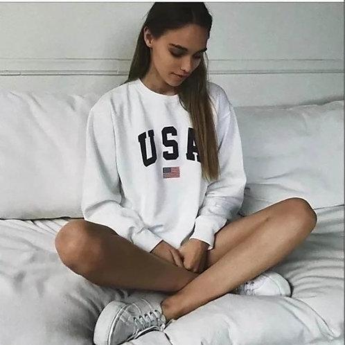Print New Women Fashion Long Sleeve Hoodie Sweatshirt