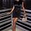 Thumbnail: Black Ruched Satin Mini Dress